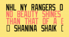 NHL NY Rangers Outline