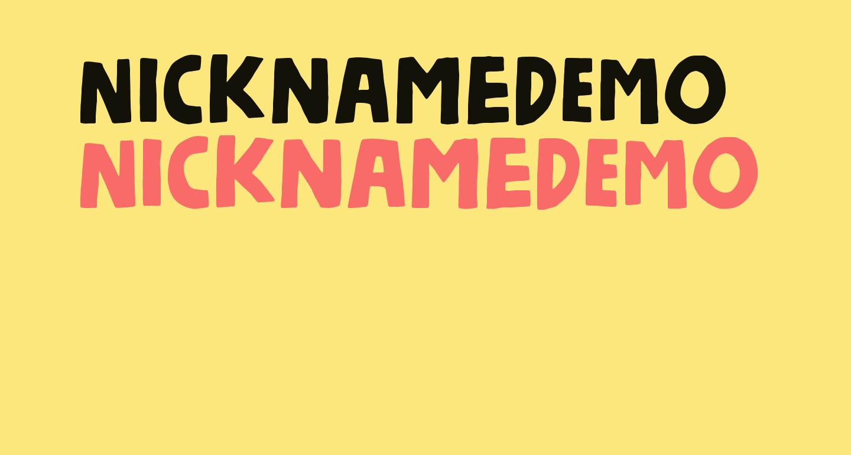 NicknameDEMO