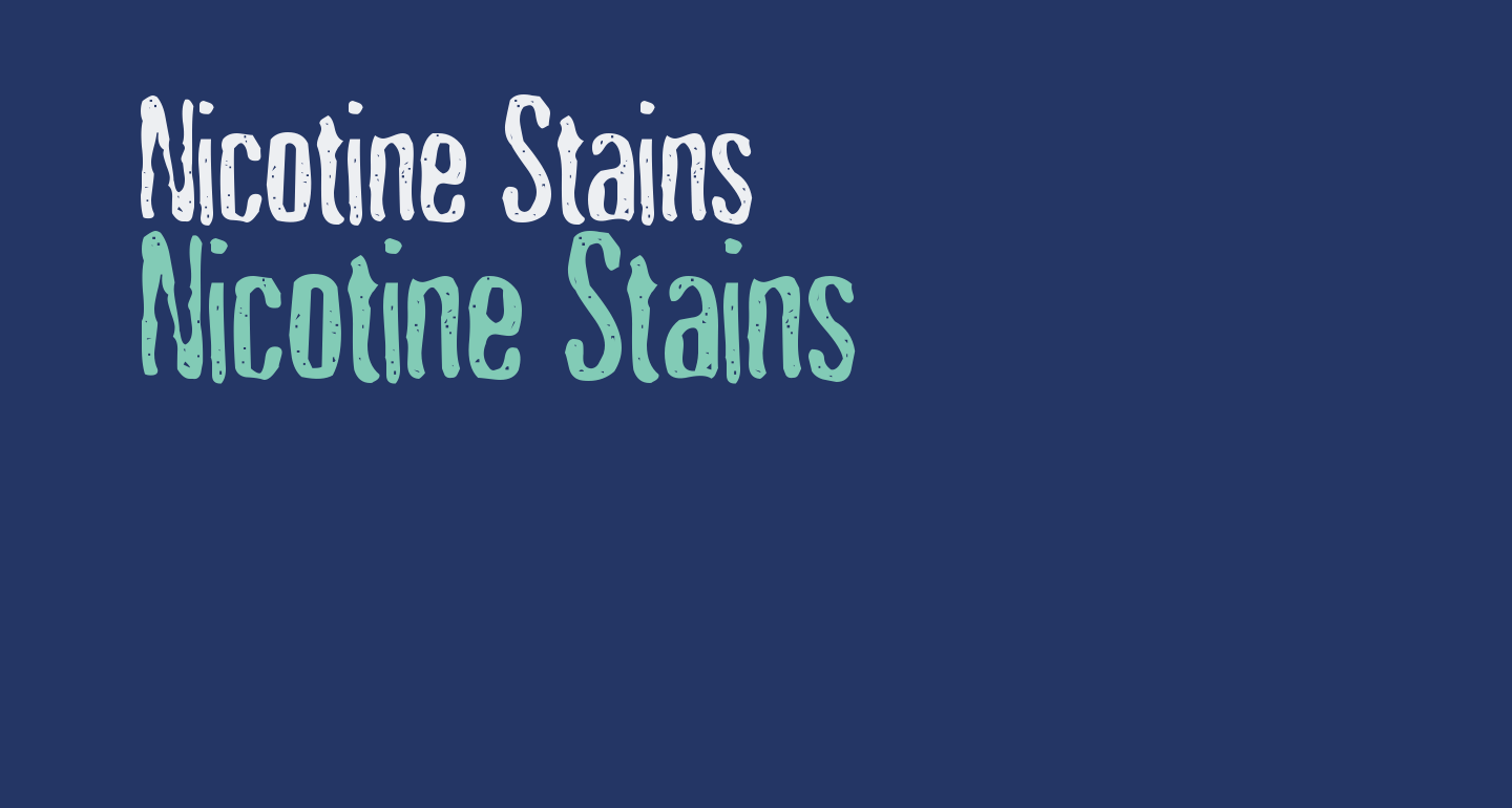 Nicotine Stains