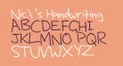 Nic's Handwriting