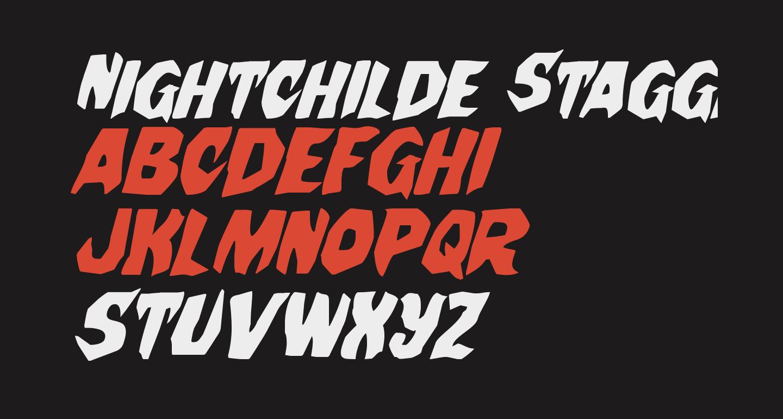 Nightchilde Staggered Italic