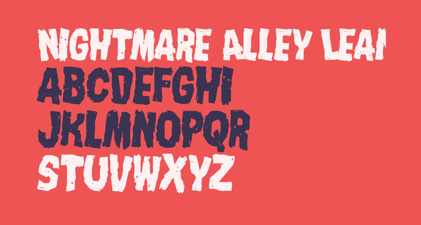 Nightmare Alley Leaning