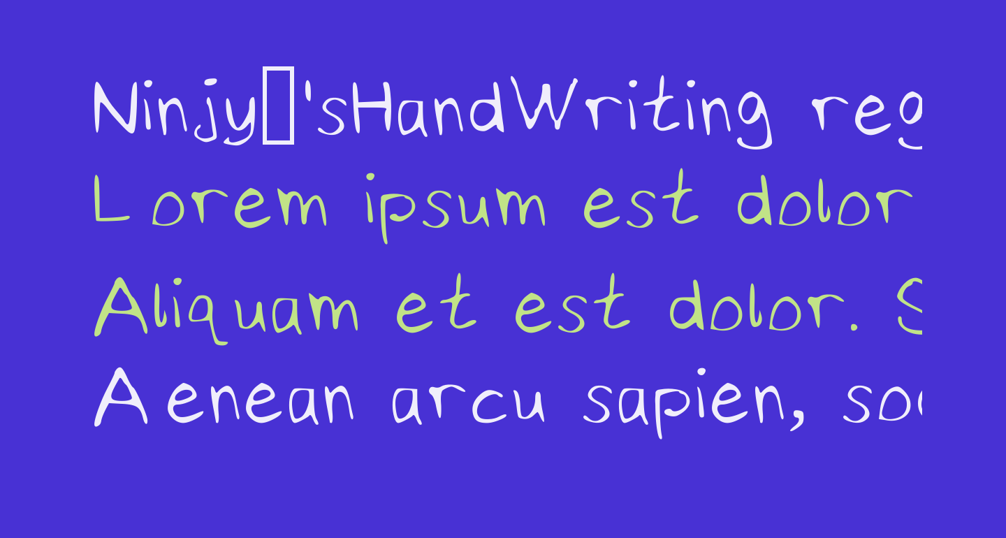 Ninjy'sHandWriting regular Medium