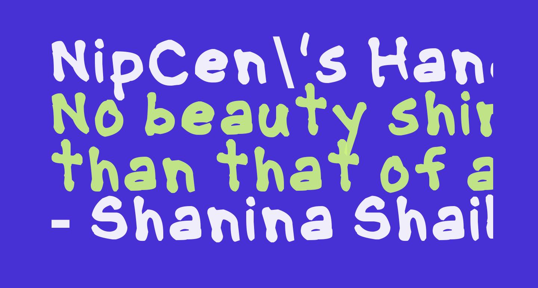 NipCen's Handwriting Bold