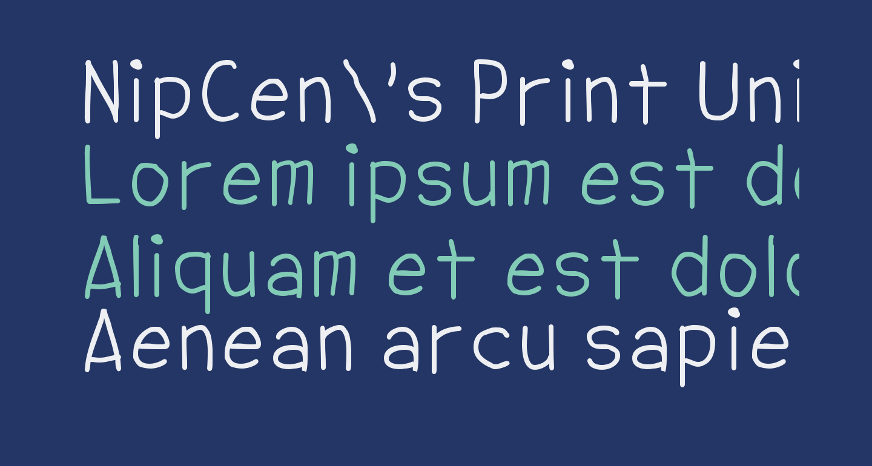 NipCen's Print Unicode