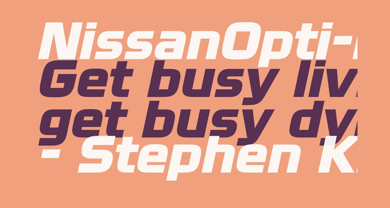 NissanOpti-Italic