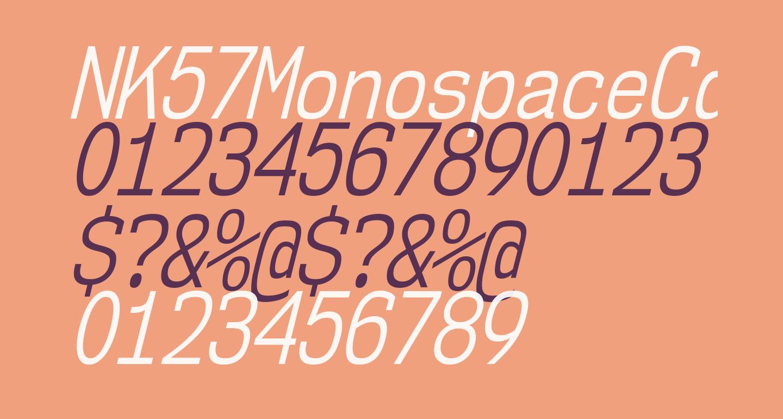 NK57MonospaceCdBk-Italic