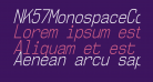 NK57MonospaceCdLt-Italic