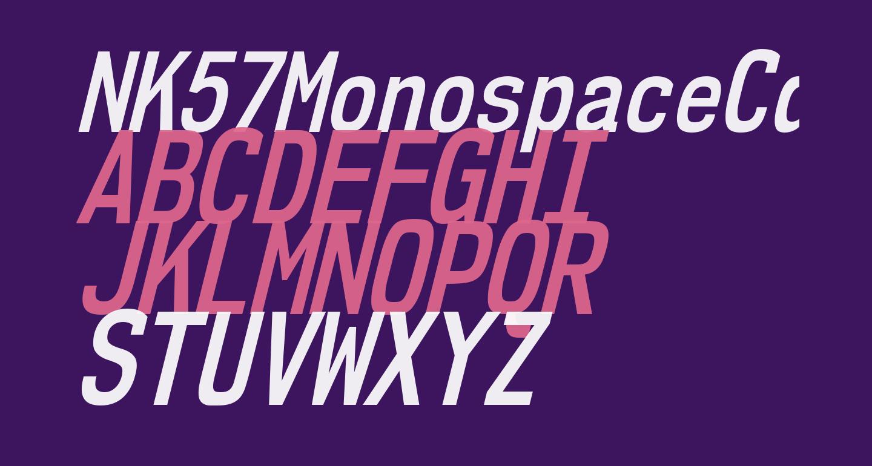 NK57MonospaceCdSb-Italic