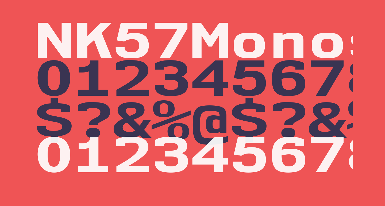 NK57MonospaceExEb-Regular