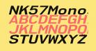 NK57MonospaceExRg-BoldItalic