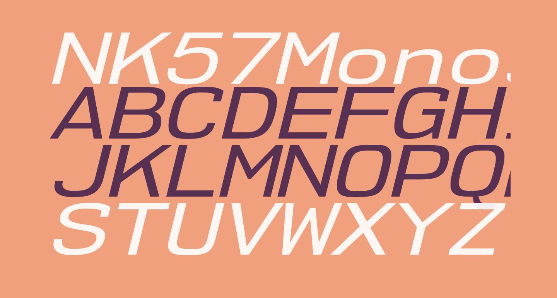 NK57MonospaceExRg-Italic