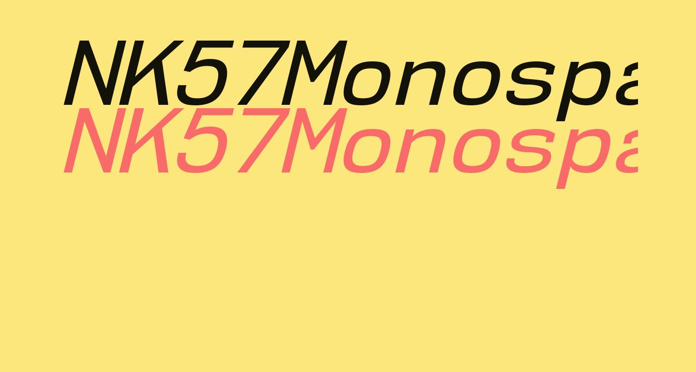NK57MonospaceRg-Italic