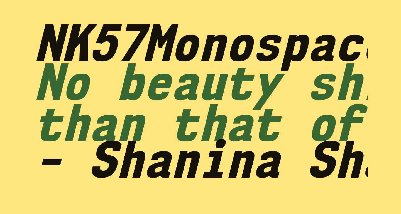 NK57MonospaceScEb-Italic