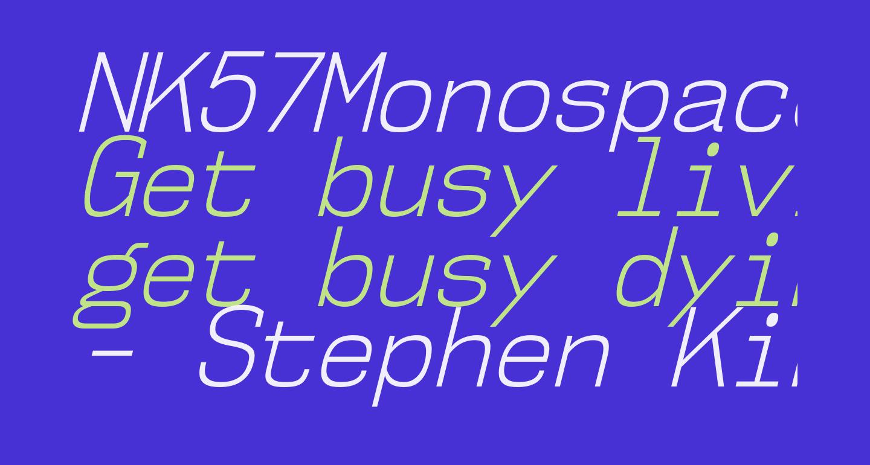 NK57MonospaceScLt-Italic