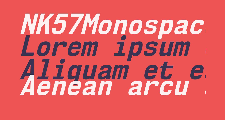 NK57MonospaceScRg-BoldItalic
