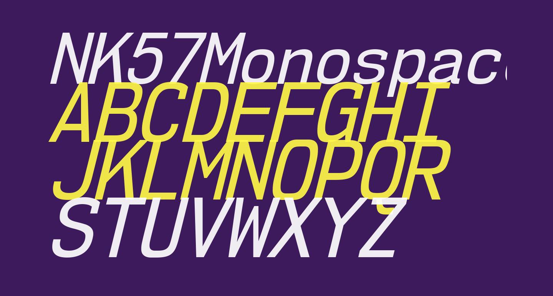 NK57MonospaceScRg-Italic