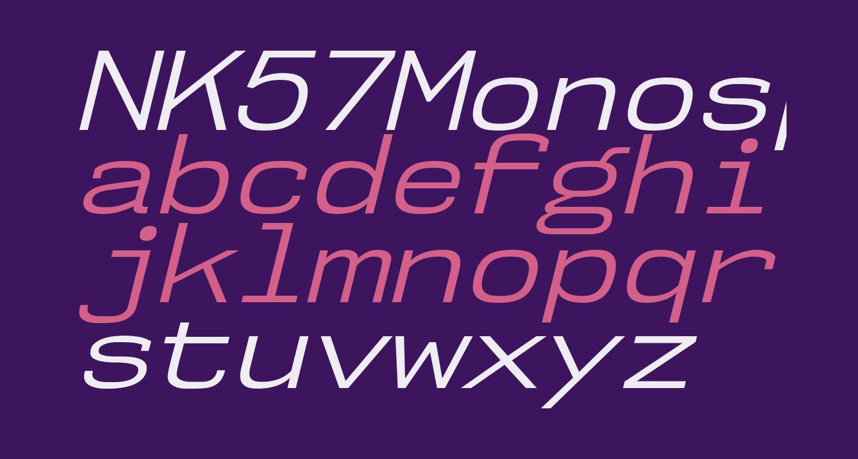 NK57MonospaceSeBk-Italic