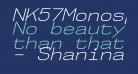 NK57MonospaceSeLt-Italic