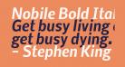 Nobile Bold Italic