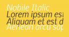 Nobile Italic