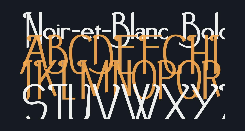 Noir-et-Blanc Bold