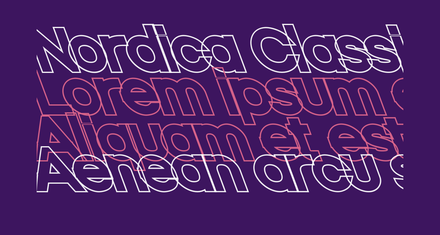 Nordica Classic Black Extended Opposite Oblique Outline