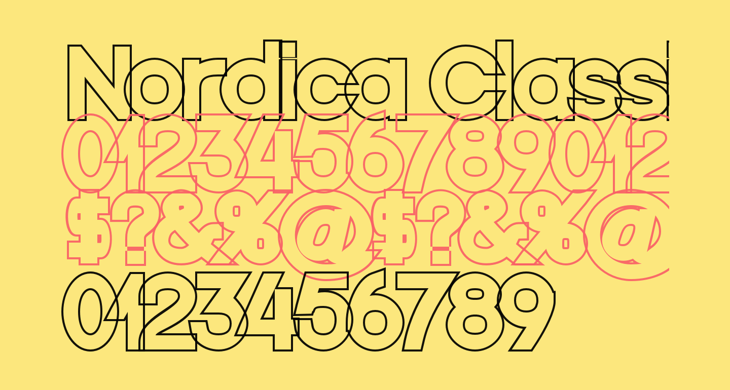 Nordica Classic Black Extended Outline