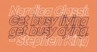 Nordica Classic Black Oblique Outline