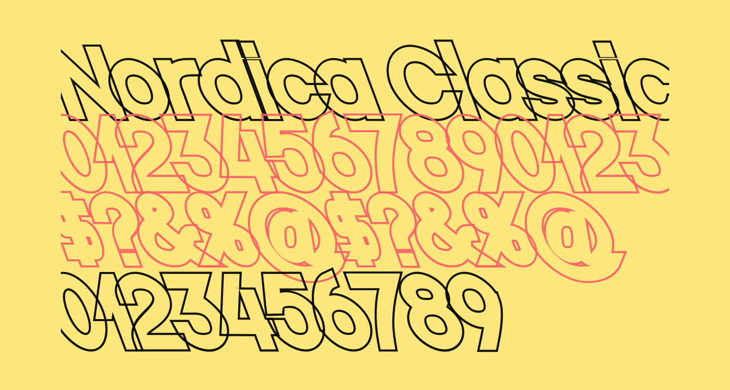 Nordica Classic Black Opposite Oblique Outline
