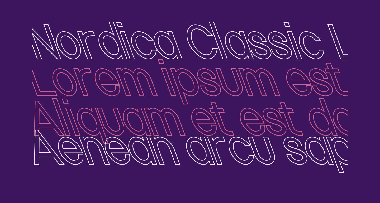 Nordica Classic Light Condensed Opposite Oblique Outline