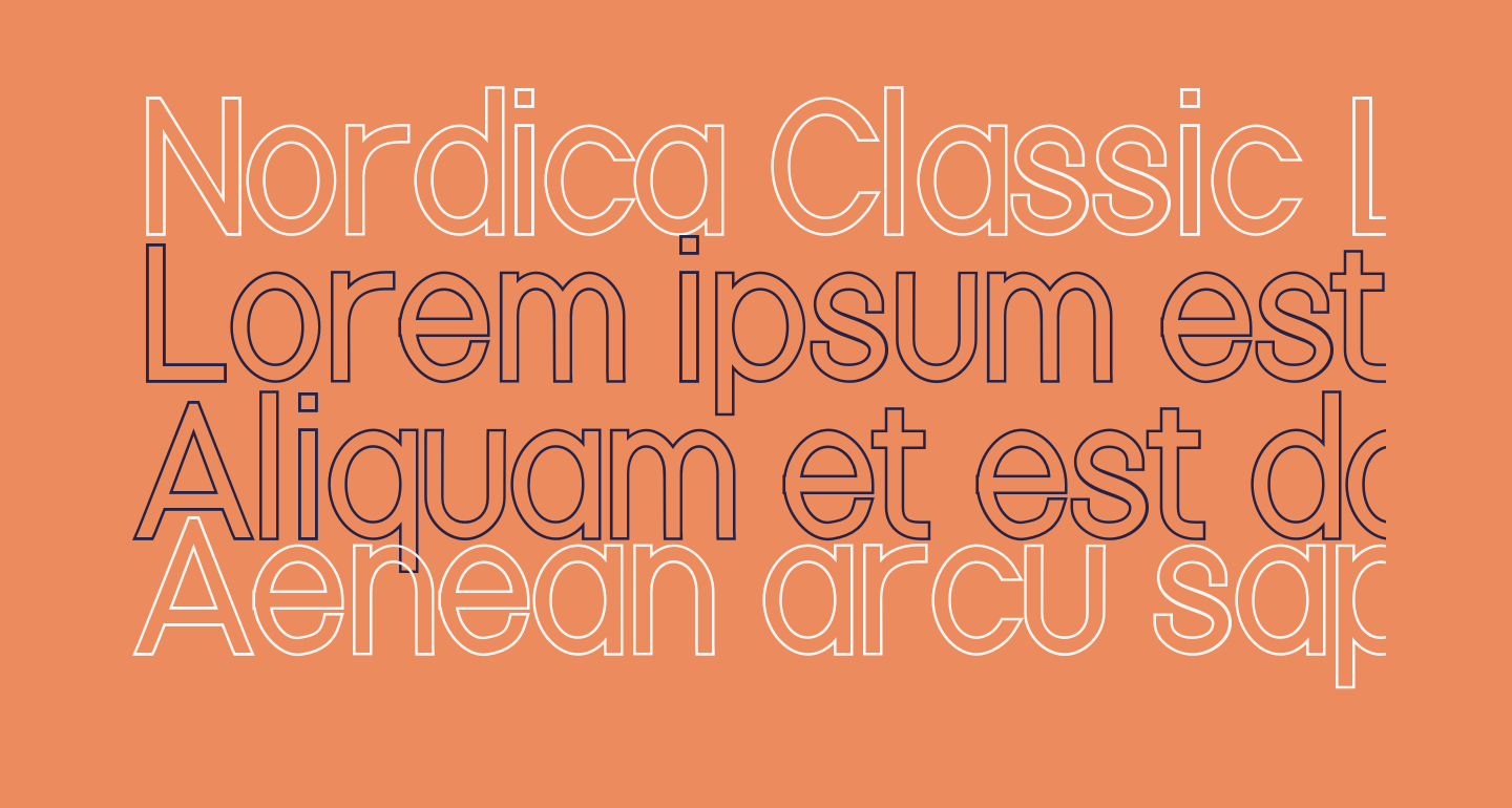 Nordica Classic Light Condensed Outline