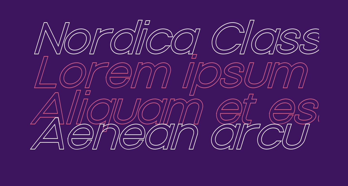 Nordica Classic Light Extended Oblique Outline
