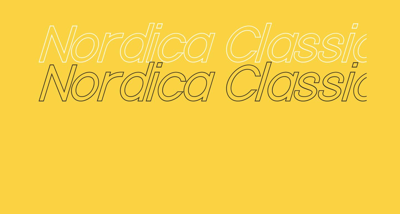 Nordica Classic Light Oblique Outline