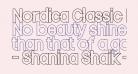 Nordica Classic Regular Condensed Outline