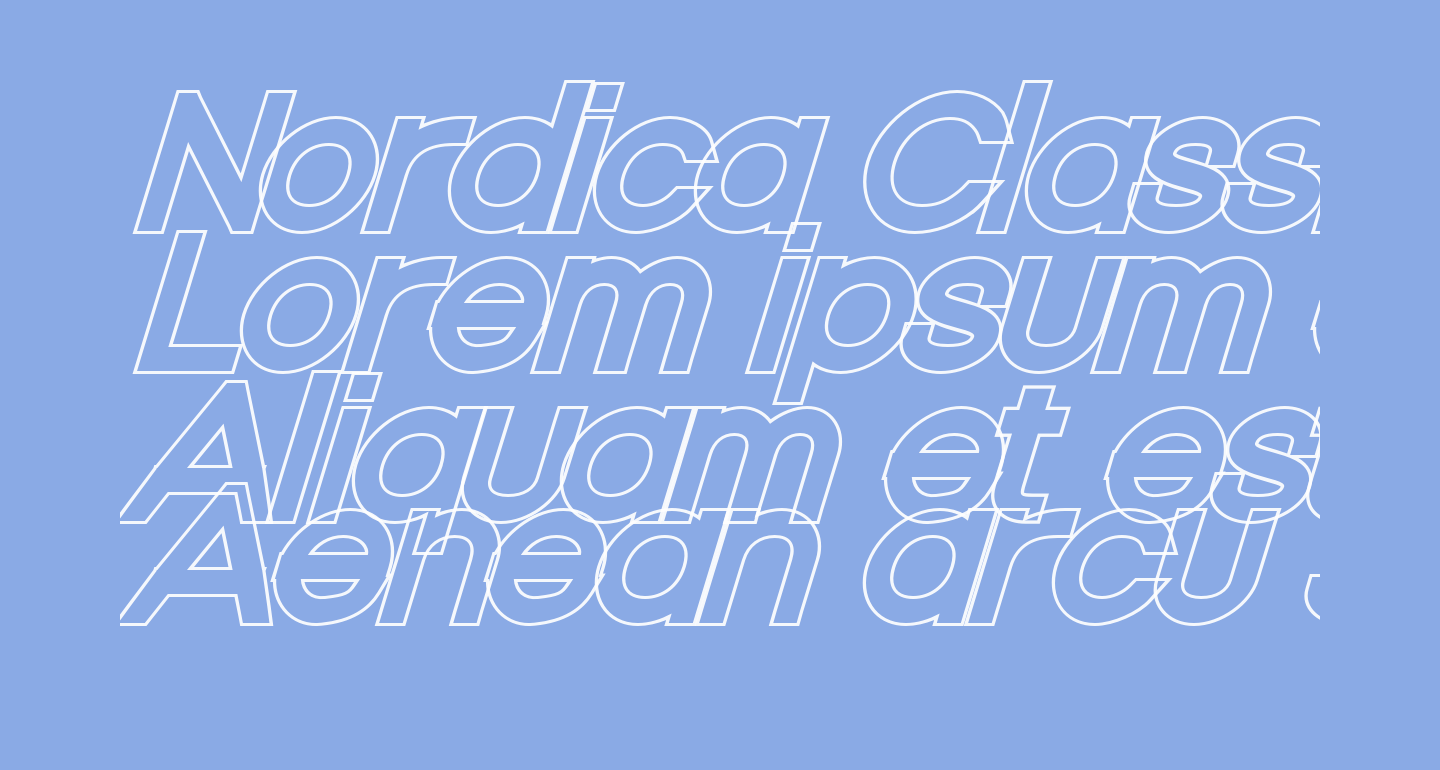 Nordica Classic Regular Extended Oblique Outline