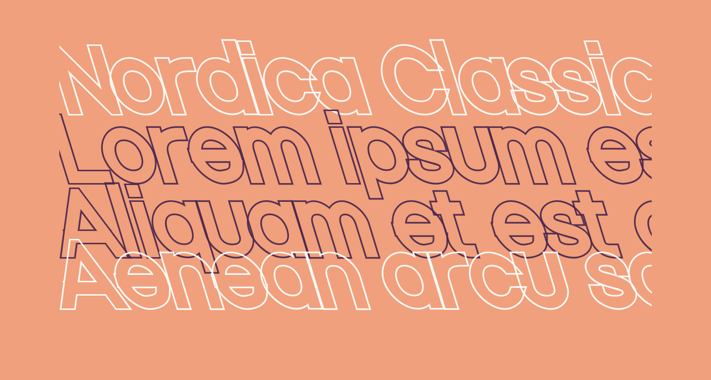 Nordica Classic Regular Opposite Oblique Outline