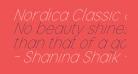 Nordica Classic Ultra Light Condensed Oblique