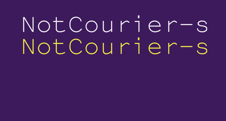 NotCourier-sans