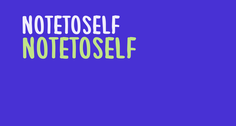 NoteToSelf