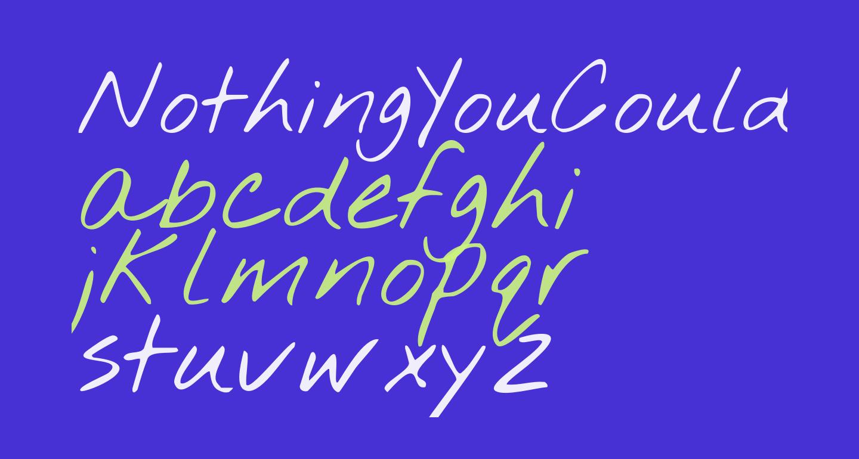 NothingYouCouldDo