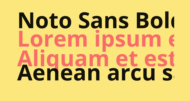 Noto Sans Bold