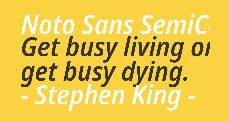 Noto Sans SemiCondensed SemiBold Italic