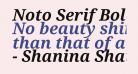 Noto Serif Bold Italic