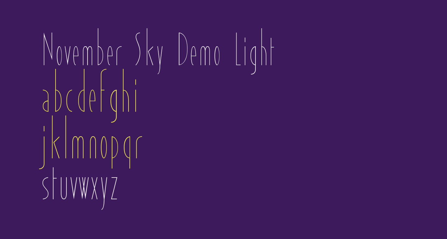 November Sky Demo Light
