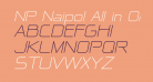 NP Naipol All in One Italic