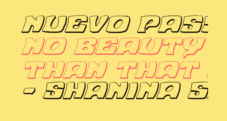 Nuevo Passion 3D Italic