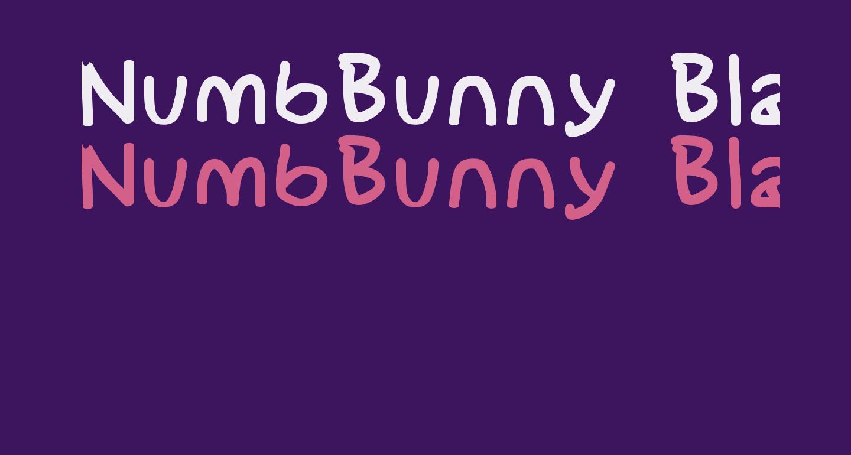 NumbBunny Black