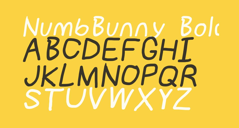NumbBunny Bold Italic