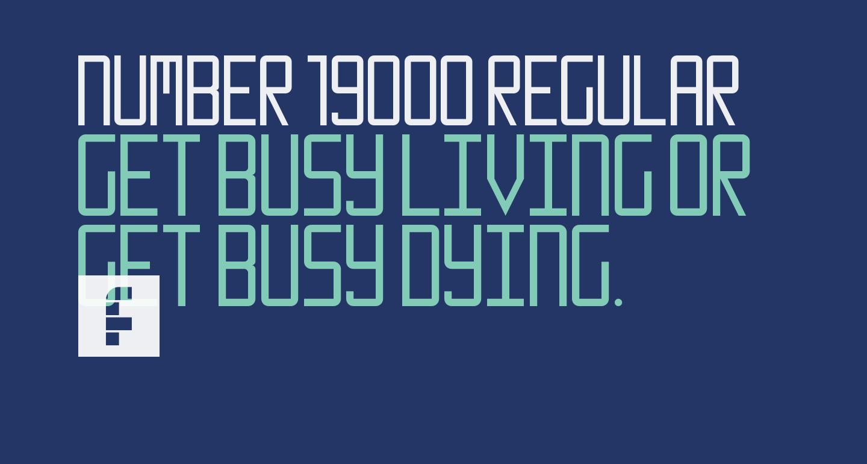 Number 19000 Regular